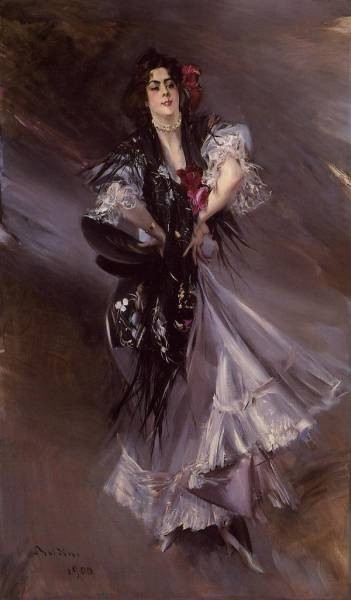 Portrait of Anita de la Ferie The Spanish Dancer